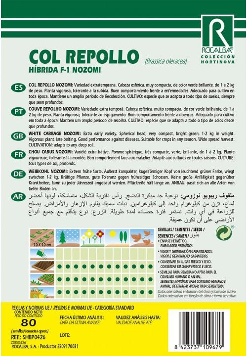 COL REPOLLO HIBRIDA F-1 NOZOMI