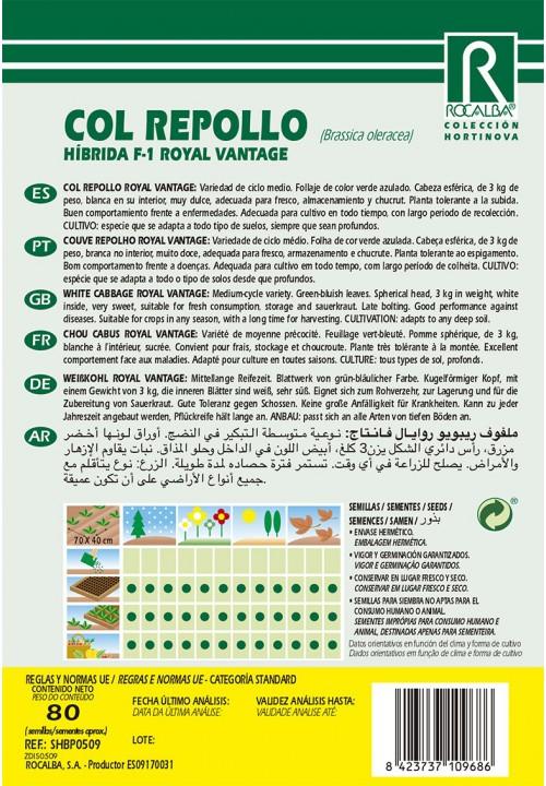 COL REPOLLO HIBRIDA F-1 ROYAL VANTAGE