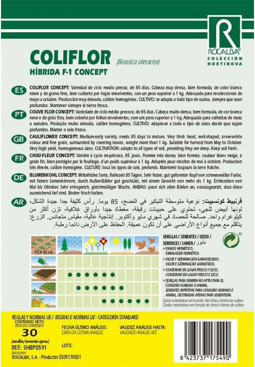 COLIFLOR HIBRIDA F-1 CONCEPT
